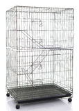 Wire cat crate or animal cage. On white background isolated Stock Photos
