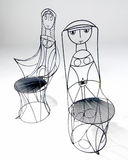 Wire Chairs Stock Image