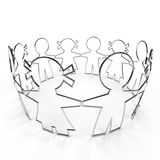 Wire circle paper people with clipping path Royalty Free Stock Photo