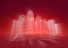 Wire city abstract background Stock Photos