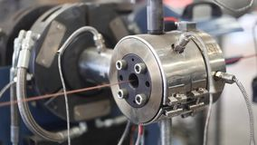 Wire coating machine part in factory. Building, in the turkey stock footage