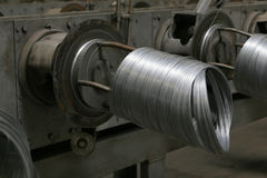 Wire coils machine Royalty Free Stock Photography