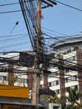 Wire communications in Thailand Royalty Free Stock Photography