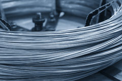 The wire cord material. For machining process royalty free stock photo