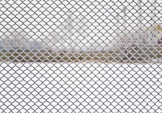 Wire covered with frost Stock Images