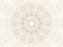 Wire Crochet against White. Circular kaleidoscope wire pattern (computer generated, fractal abstract background Royalty Free Stock Photos