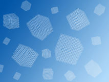 Wire cubes Royalty Free Stock Images