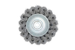 wire cup brush bottom Royalty Free Stock Photos