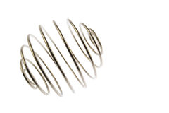 Wire curled ball equatorial view Stock Image