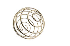 Wire curled ball tilted right Royalty Free Stock Images