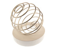 Wire curled on ring left tilted Royalty Free Stock Photos