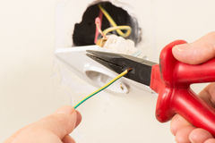 Wire cutter Royalty Free Stock Photos