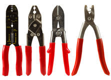 Wire Cutters. Set of wire cutters isolated on a white background Royalty Free Stock Photos