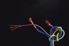 Wire On Dark Stock Image