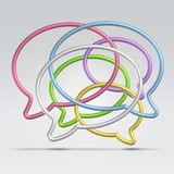Wire dialogue balloons. Colourful dialogue conversation balloons abstract background Royalty Free Stock Image