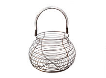 Wire egg basket Royalty Free Stock Photo
