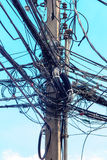 Wire electric messy Royalty Free Stock Image