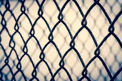 Wire fence background. Close up detail of a wire fence background Stock Photo