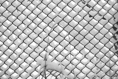 Wire fence covered with snow Royalty Free Stock Photo