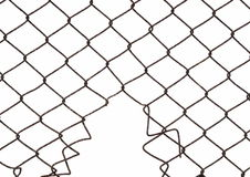 Wire fence isolated Stock Images