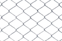 Wire fence. Isolated on white Royalty Free Stock Image