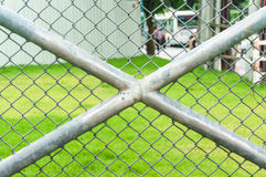 Wire fence and metal mesh Royalty Free Stock Images