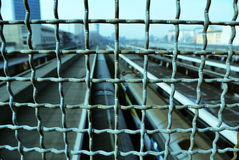 Wire fence. Stock Photo