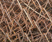 Wire fence rust texture. Background Royalty Free Stock Photography
