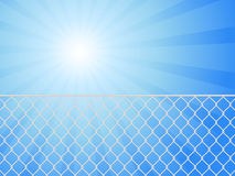 Wire fence and sky Stock Photo