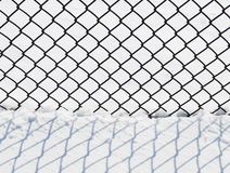 Wire fence with snow Royalty Free Stock Image