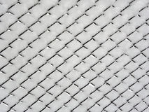 Wire Fence in Snow. Detail Royalty Free Stock Photos