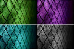 Wire fence at tennis court Stock Image