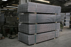 Wire fence in warehouse