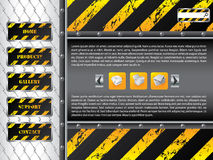Wire fence website template design stock illustration