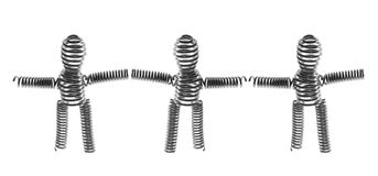 Wire Figures. On White Background Royalty Free Stock Image