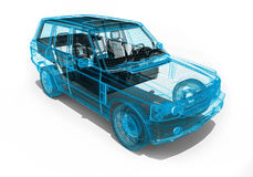 Wire Frame car Stock Image