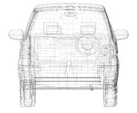 Wire frame car Royalty Free Stock Photo