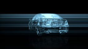 Wire frame car rotating, seamless loop, stock footage stock video footage