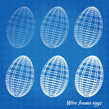 Wire frame eggs Stock Images