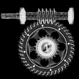 Wire frame gears Stock Image