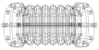 Wire-frame  industrial equipment oil flowmeter Stock Images