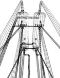 Wire-frame Oil and Gas industrial equipment Stock Photography