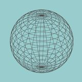 Abstract geometry shape. Wire frame style design. Platonic solid design. Earth globe Royalty Free Stock Photos