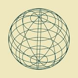 Abstract geometry shape. Wire frame style design. Platonic solid design. Earth globe Royalty Free Stock Images