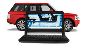 Wire Frame SUV Stock Images