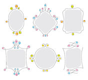 Wire Frames. Vector illustration of a frame set Royalty Free Stock Photo
