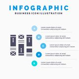 Wire framing, Sketching, Wireframe, Idea Infographics Presentation Template. 5 Steps Presentation vector illustration