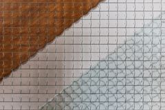 Wire glass window and banister texture background Stock Photo