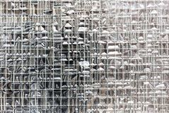 Wire glass window texture Stock Photo