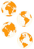 Wire Globe in Gold Stock Images